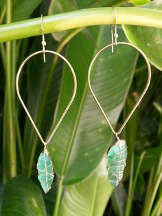 Sea Glass Hoop Earring Sterling Silver by shandahawaiiandesign, $30.00