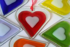 Fused Glass Heart - Large from The Glass House on Folksy