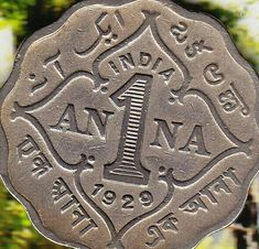 Coins ©: India 1 {One} Anna Coin {Indian, Asian} Old Coins Value, History Of India, Ancient History, Coin Auctions, India Facts, Vintage India, Coin Values, Antique Coins, Coins For Sale