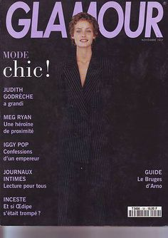 GLAMOUR France - November 1993 - Amber Valetta