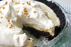 Torta negresco com banana e chocolate