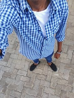 #casualmenswear #menwithstyle #gingham #checkeredshirts #shirts #vans #skinnyjeans #shadesofblue