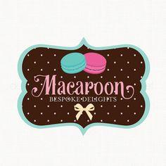 Macaroon Logo Design Bakery Logo Design by stylemesweetdesign