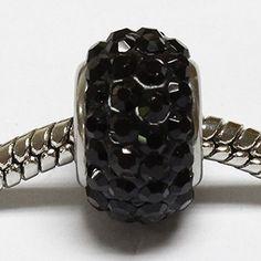 beads di color nero strass nero