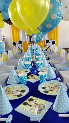 49 best Ideas for baby shower ideas for boys themes disney first birthdays Baby Mickey Mouse, Festa Mickey Baby, Fiesta Mickey Mouse, Mickey Mouse Parties, Mickey Party, Mickey 1st Birthdays, Mickey Mouse Clubhouse Birthday, Mickey Mouse Birthday, Baby Birthday Themes