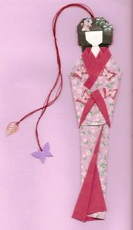 Boyfriend gift ideas 419468152787525720 - A beautiful Geisha origami bookmark is so darned cool… Source by bboudelier Origami And Kirigami, Origami Paper Art, Diy Paper, Paper Crafts, Origami Folding, Origami Boxes, Iris Folding, Diy Bookmarks, Origami Bookmark
