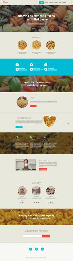 WordPress Theme , Italian Restaurant