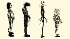 Download hd wallpapers of 111808-Tim Burton, Movies, Beetlejuice, Fan Art, Edward Scissorhands, Mars Attacks. Free download High Quality and Widescreen Res