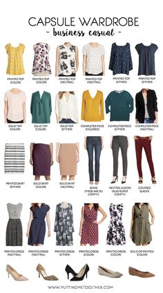 As promised, here is a business casual capsule wardrobe! Like I said in previous posts (HERE and HERE), I'm not super savvy with business casual pieces since I only need to dress accordingly once in