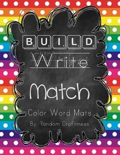 Build, Write, and Match Color Word Mats ON SALE!