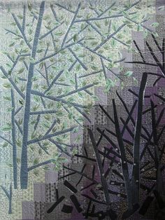 Beautiful gray shadows and layers, evocative of a winter forest... [Tokyo International Quilt Festival 2008]