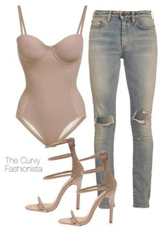 """""""Untitled #890"""" by thecurvyfashionistaa ❤ liked on Polyvore featuring Yves Saint Laurent"""