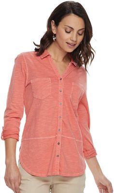 41f6b4cf06aac Sonoma Goods For Life Petite SONOMA Goods for Life Tunic Shirt