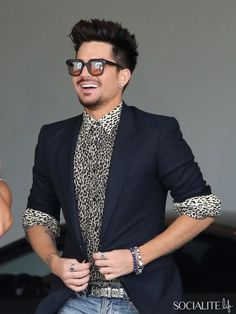Singer Adam Lambert seen at Fergie's baby shower at the SLS hotel in Los Angeles. July 28, 2013.