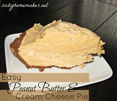 suzyhomemaker: Creamy Peanut Butter Pie