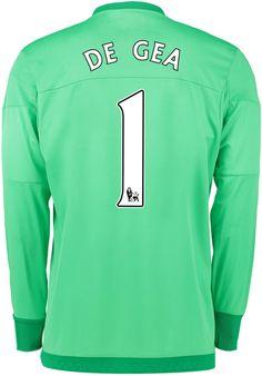 aa84eb78c9a Manchester United Home Goalkeeper Shirt 2015 16 Green with De Gea 1  printing Goalkeeper Shirts