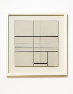 Composition With Double Line, 1934, Piet Mondrian