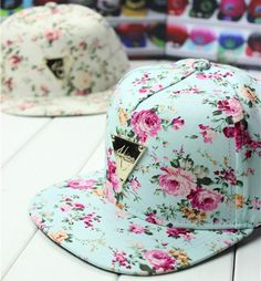 2014 spring summer H Series Colorful Floral flat triangle labeled hip-hop baseball cap hater snapback for women men US $7.40