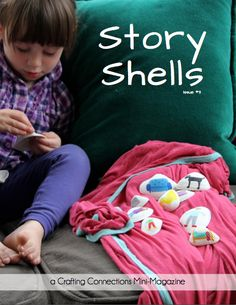 Story Shells {free} mini-magazine by Crafting Connections. Preschool Curriculum, Preschool Crafts, Homeschool, Therapy Tools, Play Therapy, Fun Easy Crafts, Early Reading, Early Literacy, Toddler Fun