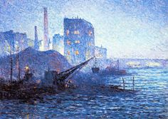 The Athenaeum - The Thames in London (Maximilien Luce - )