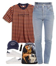 """""""Guess"""" by oh-aurora ❤ liked on Polyvore featuring GUESS, Givenchy, Vetements, adidas, Lacoste and New Look"""