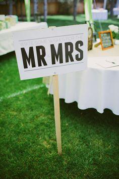reception welcome sign http://www.weddingchicks.com/2013/10/17/simple-sweet-wedding/