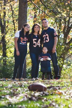 Chicago Bears Fall Family Photo Session | Huntley, IL - Landapixel Photography