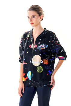 Available in both men and women's sizes.XS/S/M/LFabric: 100% scubadigitally printedSensual AbductionA fashion tribute to the works of U.F.O. artist Ionel T