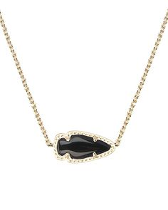 Skylie Gold Pendant Necklace in Black - Kendra Scott Jewelry. Coming July 16!