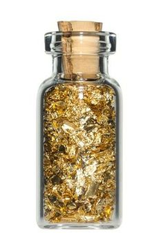 Gold | ゴールド | Gōrudo | Gylden | Oro | Metal | Metallic | Shape | Texture | Form | Composition | in a jar.