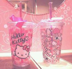 Hello kitty reusable travel cups