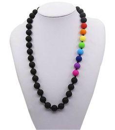 Silicone Teething Necklace - Nursing Necklace - Rainbow