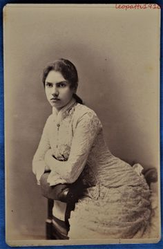 Cabinet Photo Young Woman June 1880 Brown Commencement #2 Ernsberger Auburn NY