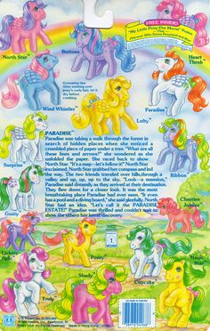 My Little Pony So-Soft Ponies Backcard