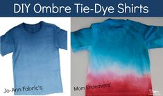 DIY Tie-dye Ombre T-Shirts by @Sara Eriksson Eriksson {Mom Endeavors} #summerofjoann