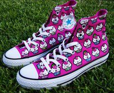 cute cupcake converse shoes
