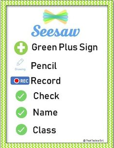 Seesaw Activity Reference Poster by That Techie Girl Digital Technology, Educational Technology, Learning Resources, Teacher Resources, Seesaw App, Apple Classroom, Classroom Procedures, Parent Communication, Kindergarten Fun