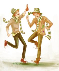 The twins at the Quidditch World Cup