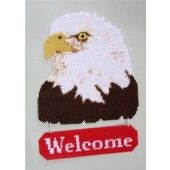 free plastic canvas deer patterns   Plastic Canvas-Eagle Welcome Sign
