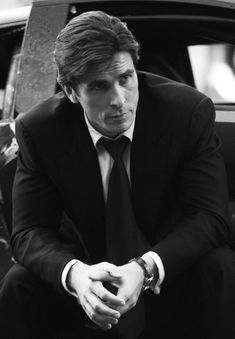 B/W photo of Christian Bale