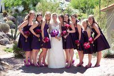 plum bridesmaids::