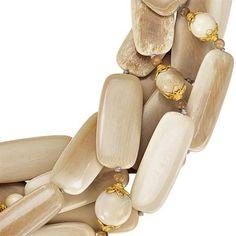 Verdura Tile Necklace (mammoth ivory tile)