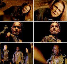 "Diana: ""Rick, do it."" Rick: ""Don't gotta tell me twice!"" Morgan: ""Rick, you've gone crazy..."" Me: ""No, really?"""