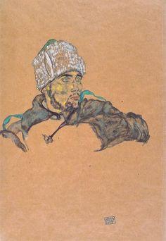 pallashouse: Egon Schiele, Russian Officer. 1915