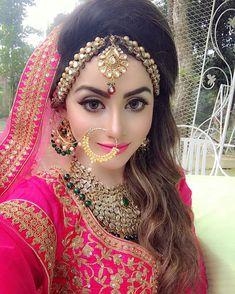 my wedding look. Bridal Makup, Pakistani Bridal Makeup, Pakistani Wedding Outfits, Indian Bridal Lehenga, Bridal Makeup Looks, Bridal Outfits, Bridal Looks, Wedding Dresses, Stylish Girl Images