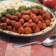 Sweet and sour meatballs. - recommended by TM customer Laura