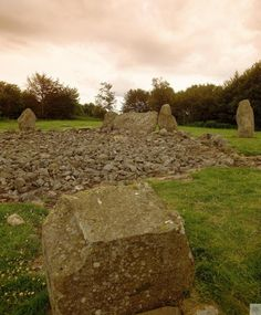 Loanhead Stone Circle, North & Grampian. A recumbent stone circle with a small burial enclosure nearby. Scotland