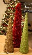 diy christmas trees with tissue paper
