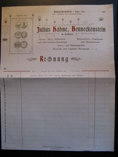 Antique Blank Letterhead, Julius Hahne, Benneckenstein...c. 1900