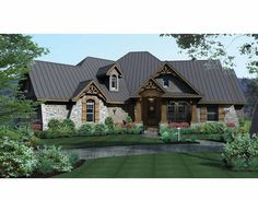 Eplans French Country House Plan - Perfect for Entertaining - 2847 Square Feet and 3 Bedrooms from Eplans - House Plan Code HWEPL73227